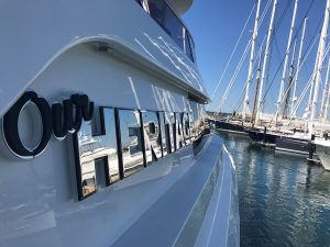 stainless steel yacht lettering fort lauderdale