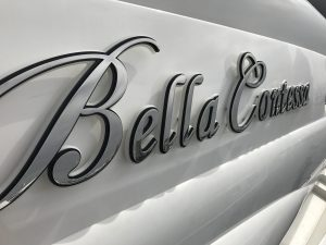 Stainless-steel boat signs